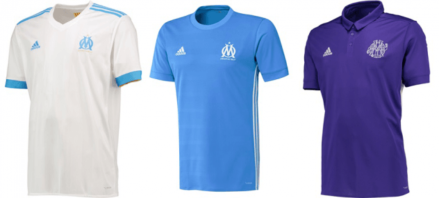 tenue de foot OM Tenue de match